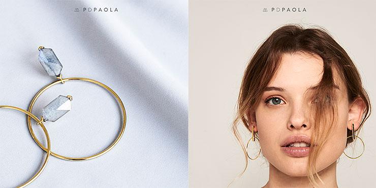 P D Paola Schmuckmarke - Collage aus 2 Marken-Bildern